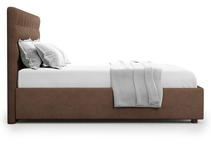 Кровать с подъемным механизмом Brayers 160х200 коричневого цвета