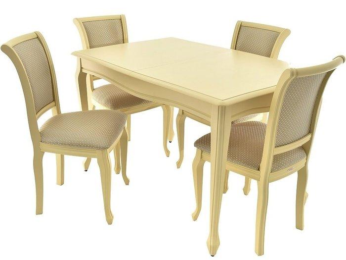 Стол раздвижной Кабриоль цвета слоновой кости