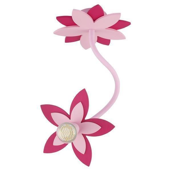 Подвесной светильник Flowers Pink из дерева и металла