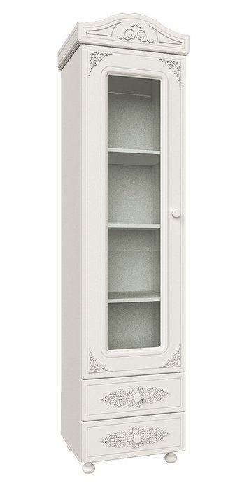 Шкаф-витрина Ассоль белого цвета