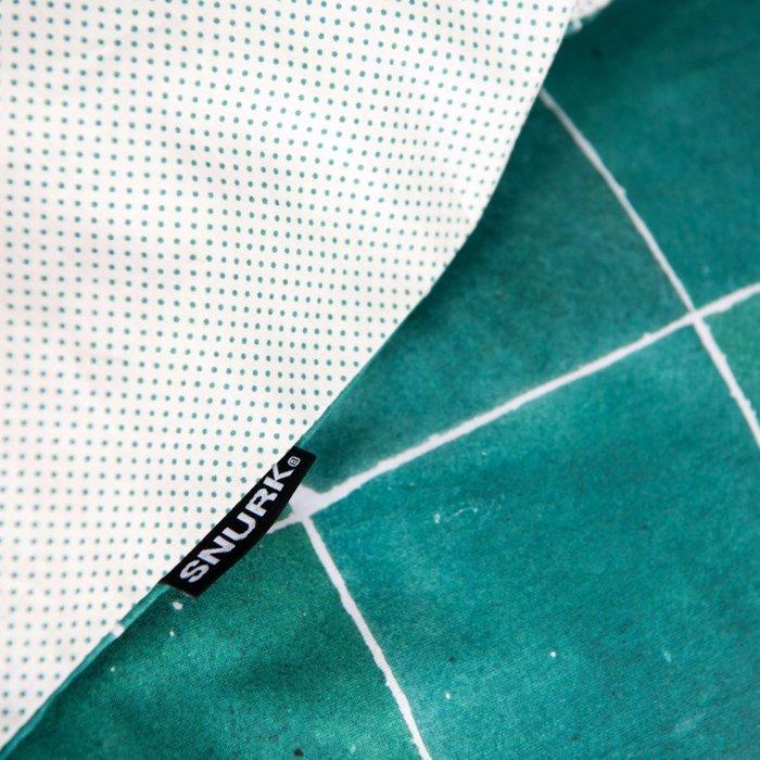 Комплект постельного белья Плитка изумрудного цвета 150x200