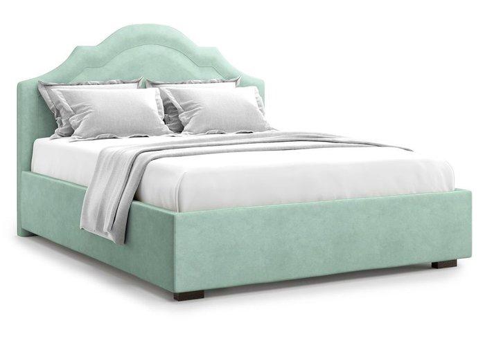 Кровать с подъемным механизмом Madzore 140х200 мятного цвета