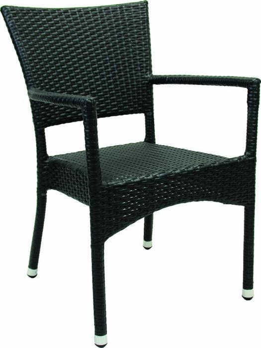 Кресло садовое Rum черного цвета