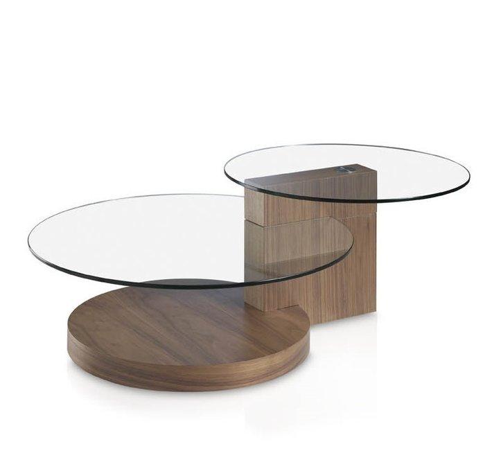 Журнальный столик Personal с двумя стеклянными столешницами