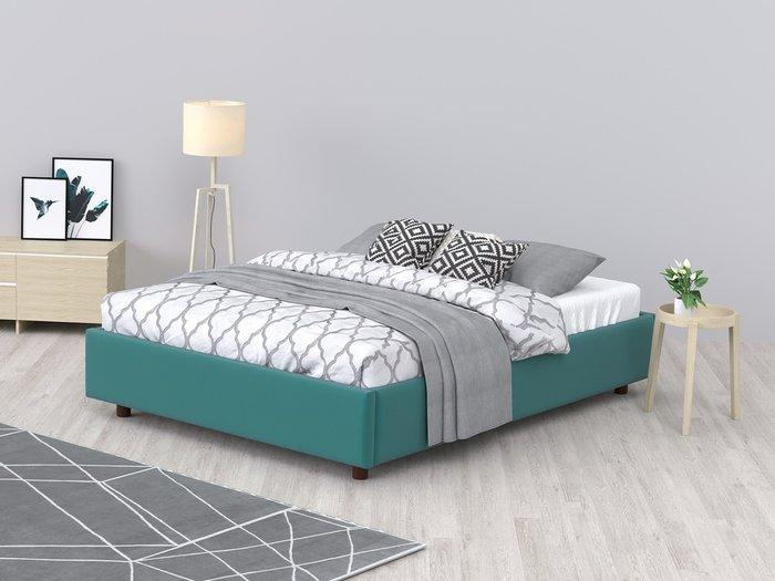 Кровать SleepBox 90x200 бирюзового цвета