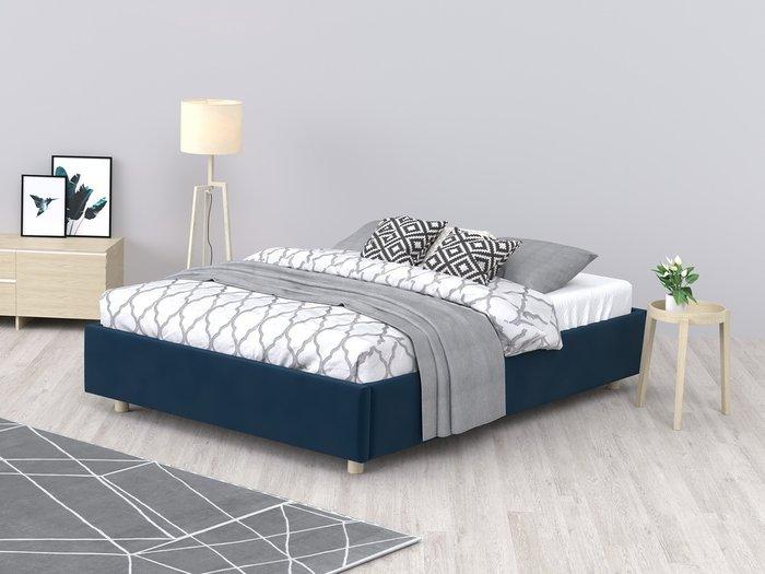 Кровать SleepBox 120x200 синего цвета