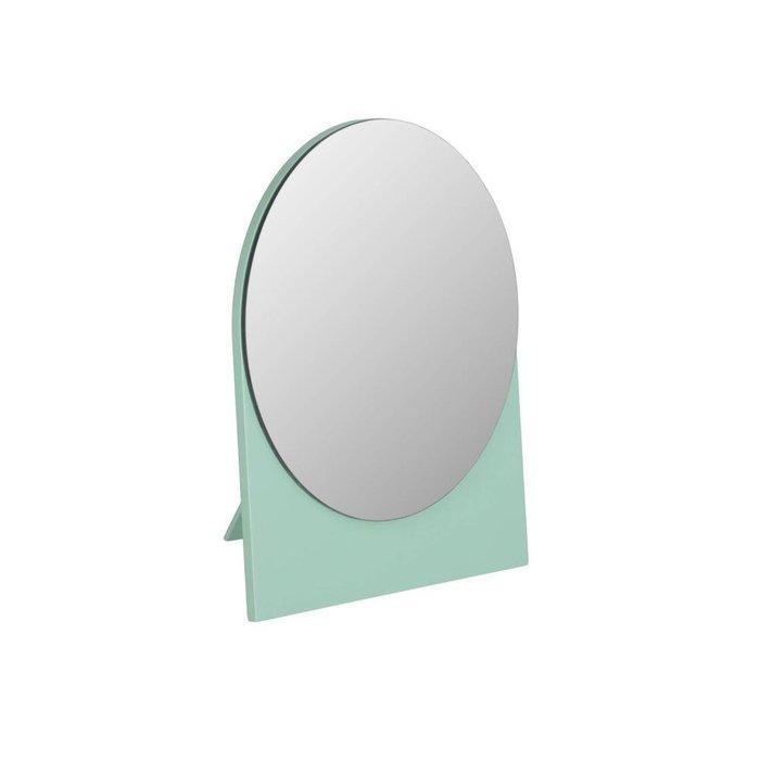 Настольное зеркало Mica зеленого цвета