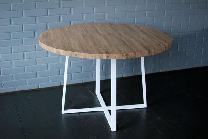Круглый стол Oak Round Plus с металлическим подстольем