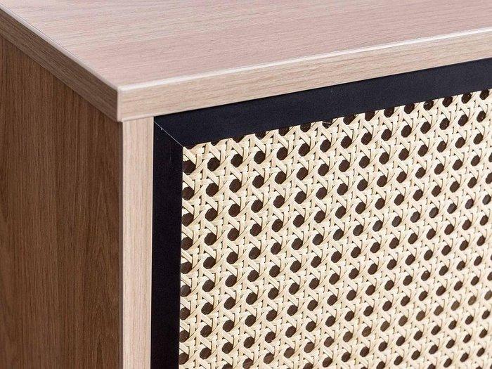 Шкаф двухдверный Boho с фасадом из ротанга