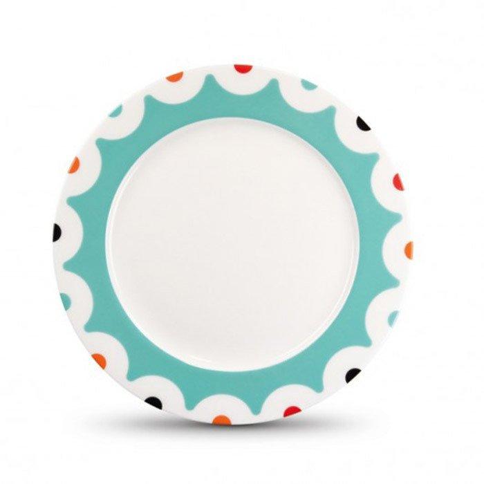 Фарфоровая тарелка Dots