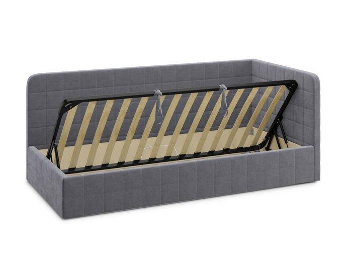 Кровать с подъемным механизмом Tichina 90х200 серого цвета