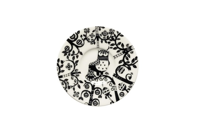 Блюдце Taika черно-белого цвета