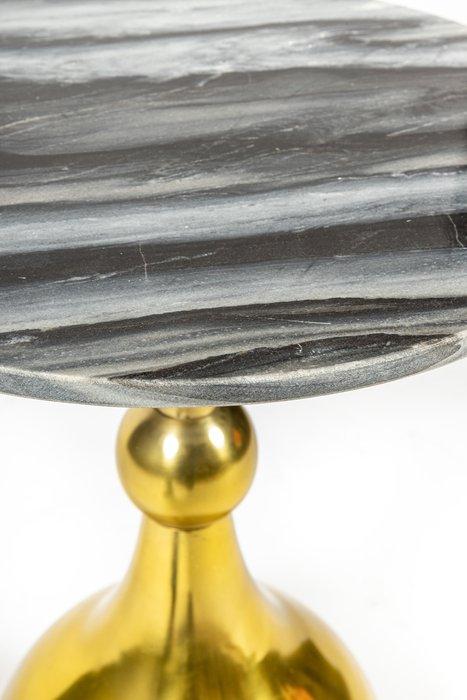 Кофейный столик Aladdin золотого цвета с мраморной столешницей