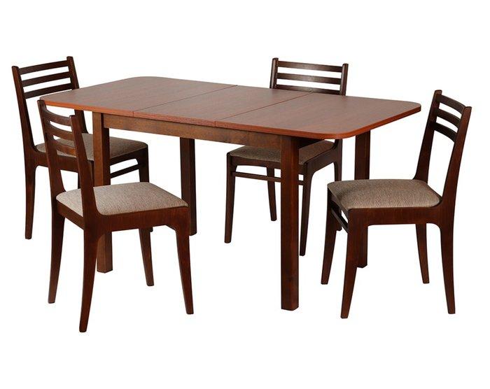 Раскладной обеденный стол Франц коричневого цвета