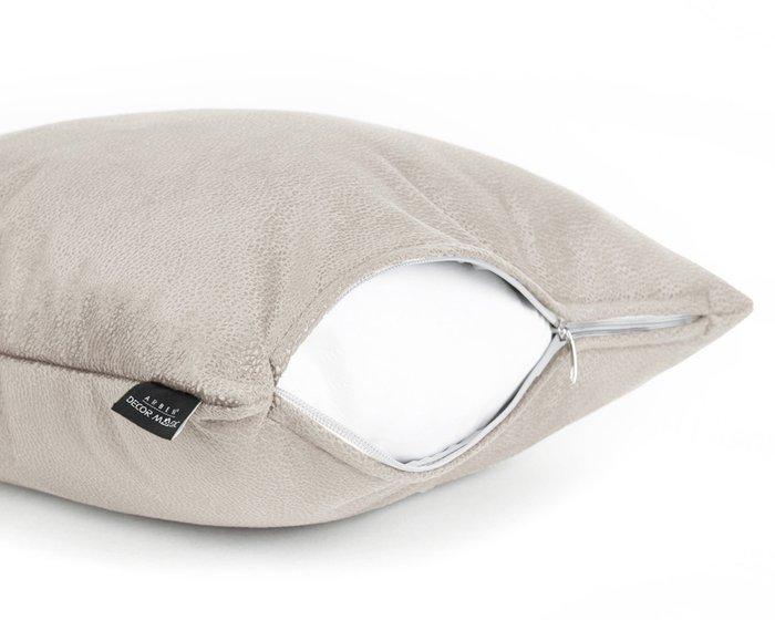 Декоративная подушка Tudor Latte 45х45 серо-бежевого цвета