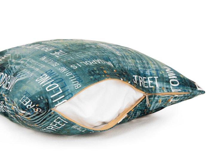 Декоративная подушка Centra Lagoon 45х45 бирюзового цвета