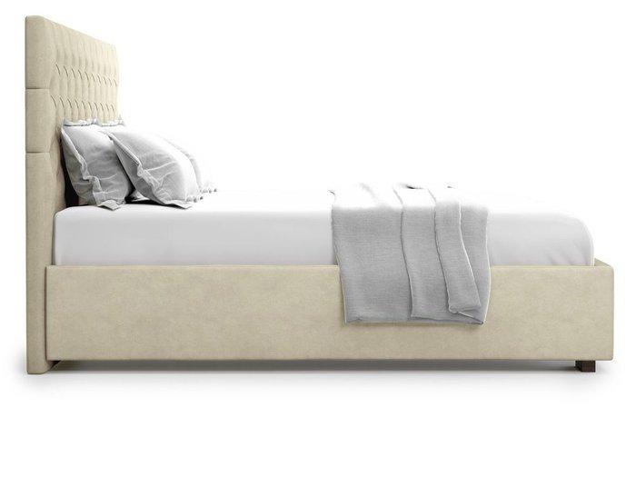 Кровать с подъемным механизмом Nemi 180х200 бежевого цвета