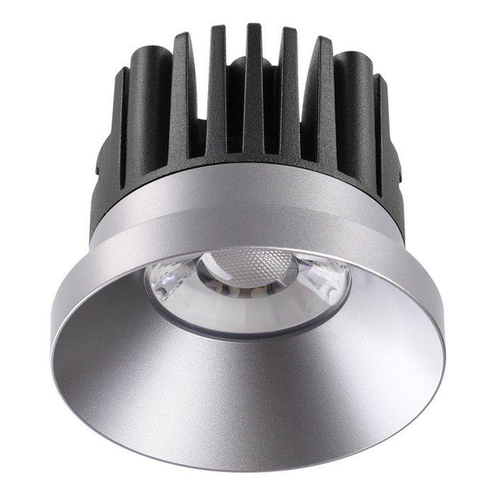 Встраиваемый светодиодный светильник Metis серебряного цвета