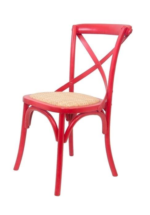 Венский стул Cross Back Red