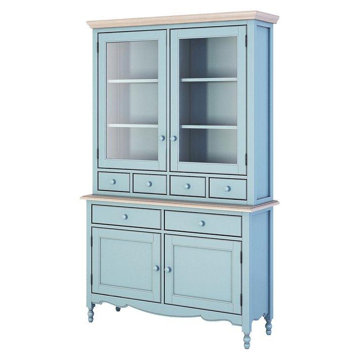 Буфет с ящиками и дверцами Leblanc голубого цвета