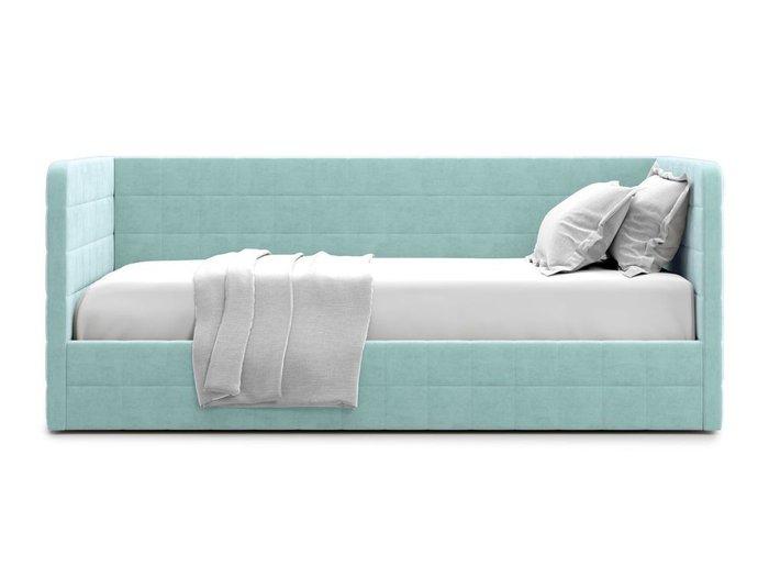 Кровать с подъемным механизмом Brenta 90х200 мятного цвета