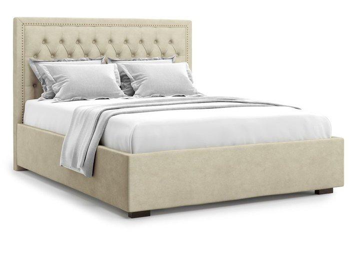 Кровать с подъемным механизмом Orto 140х200 бежевого цвета
