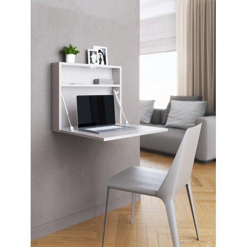 Настенный откидной стол для ноутбука серого цвета