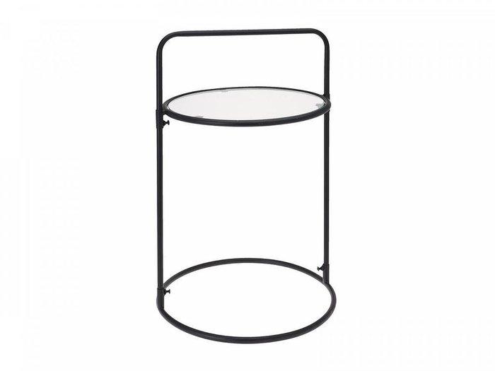 Столик сервировочный Rondo Black из металла и стекла