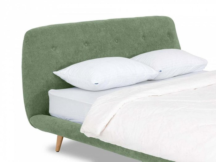 Кровать Loa 160х200 зеленого цвета