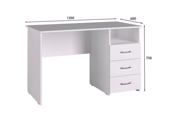 Стол письменный Классик белого цвета