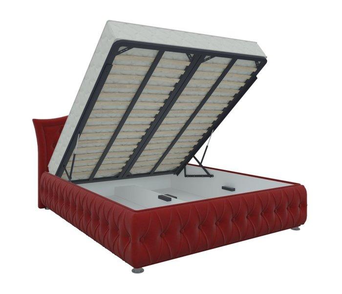 Кровать Герда 160х200 красного цвета с подъемным механизмом