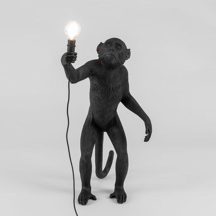 Настольная лампа SelettI The Monkey Lamp Black Standing Version