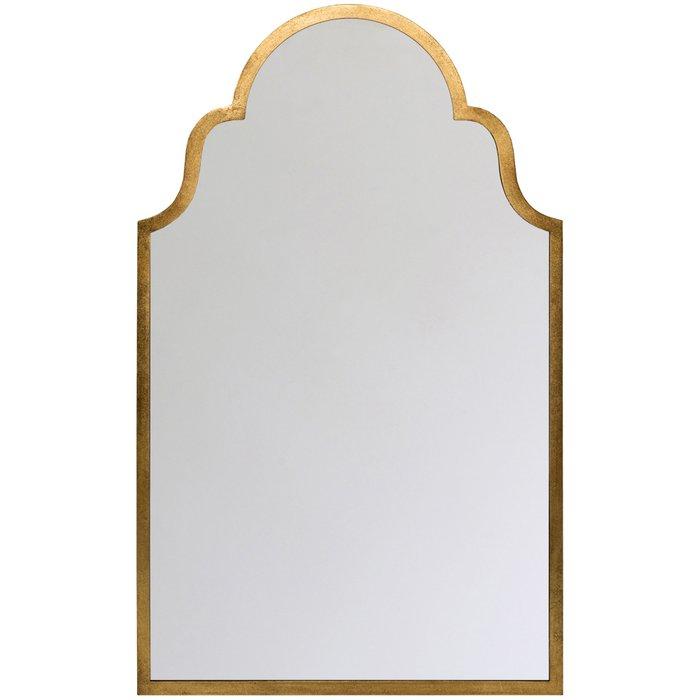 Настенное зеркало Бельмонте в раме золотого цвета