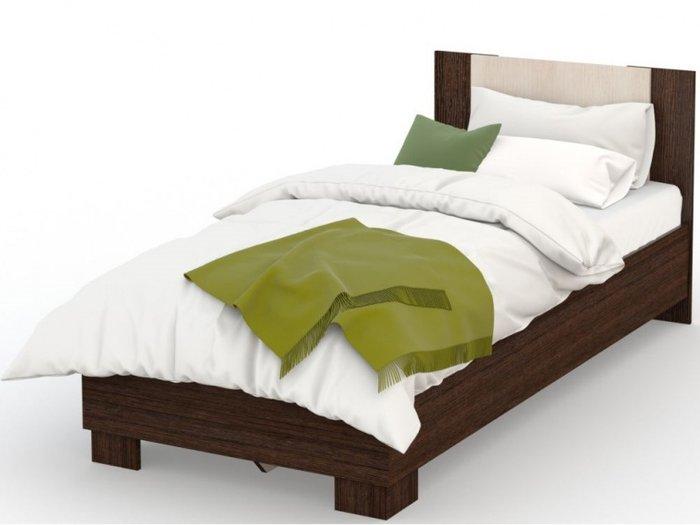 Кровать Аврора 90х200 темно-коричневого цвета