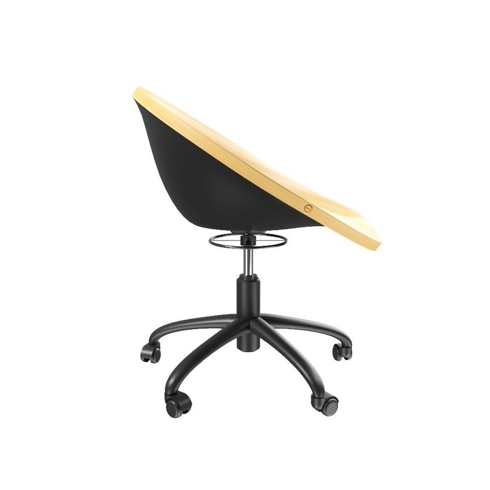 Кресло стул Sang бежево-черного цвета