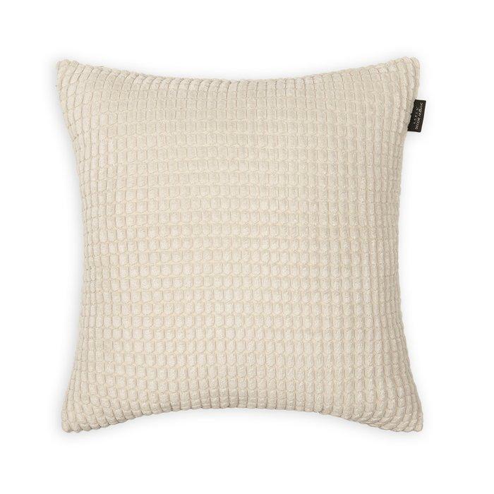 Декоративная подушка Civic Bone молочного цвета