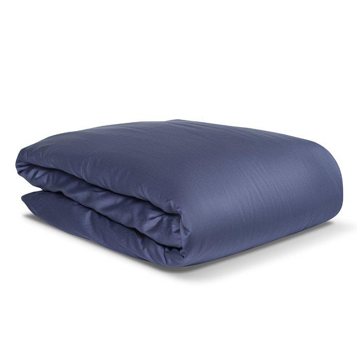 Комплект постельного белья Essential из сатина темно-синего цвета 150х200