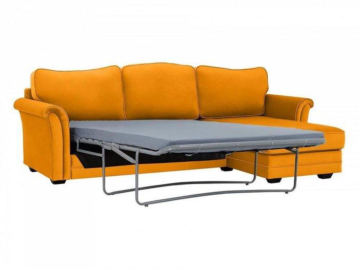 Угловой диван-кровать Sydney горчичного цвета