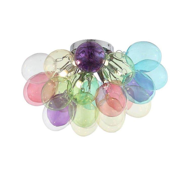 Потолочная люстра Sospiro из разноцветного стекла