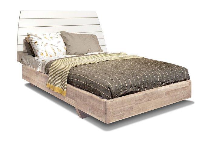 Кровать Wallstreet 120х200 бело-бежевого цвета