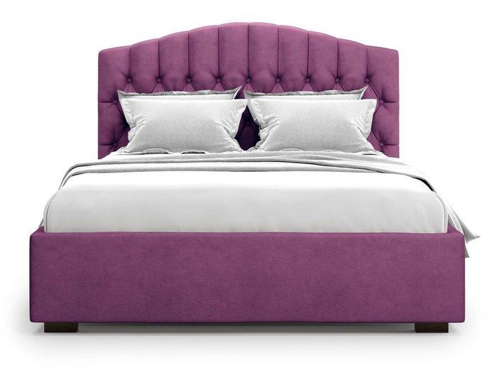 Кровать с подъемным механизмом Lugano 140х200 фиолетового цвета
