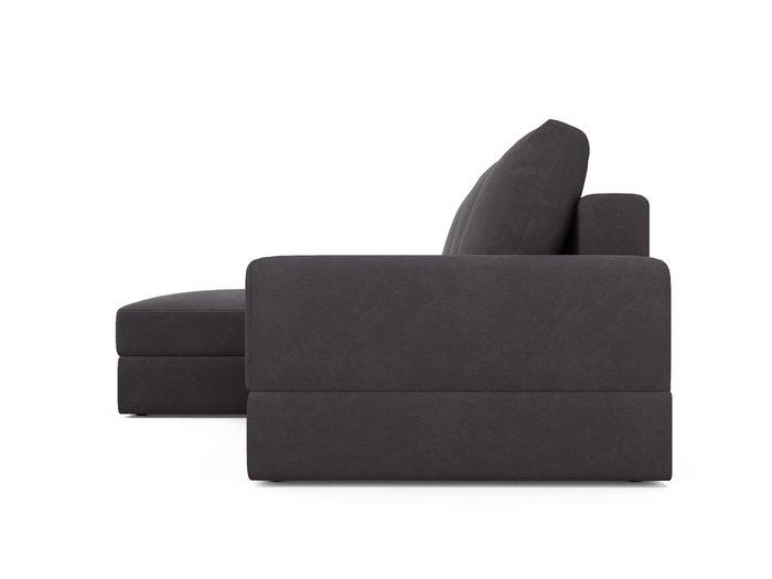 Угловой диван-кровать левый Elke темно-серого цвета