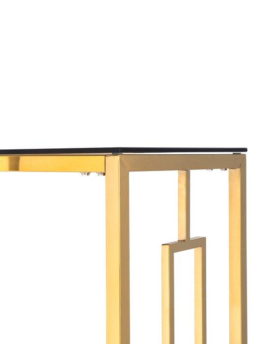 Консоль Бруклин с каркасом золотого цвета