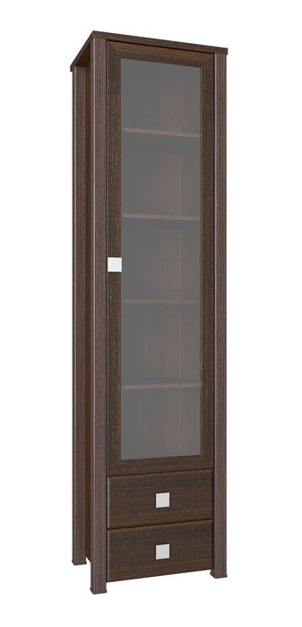 Шкаф-витрина Изабель  темно-коричневого цвета