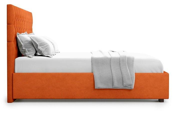 Кровать с подъемным механизмом Nemi 180х200 оранжевого цвета