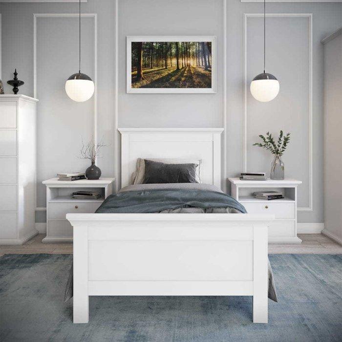 Кровать Шарли 90х200 белого цвета