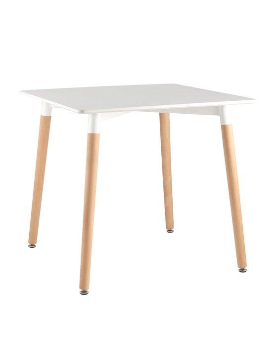 Обеденный стол Oslo square WT с белой столешницей