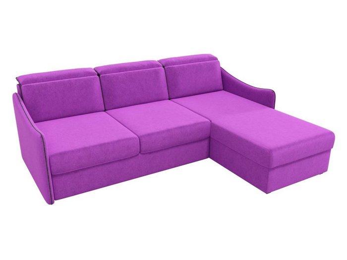 Угловой диван-кровать Скарлетт фиолетового цвета