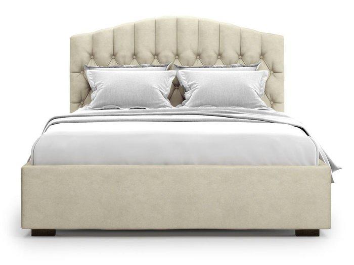 Кровать с подъемным механизмом Lugano 160х200 бежевого цвета