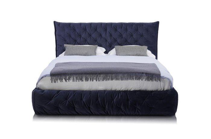 Кровать Club 120х200 c подъемным механизмом темно-синего цвета